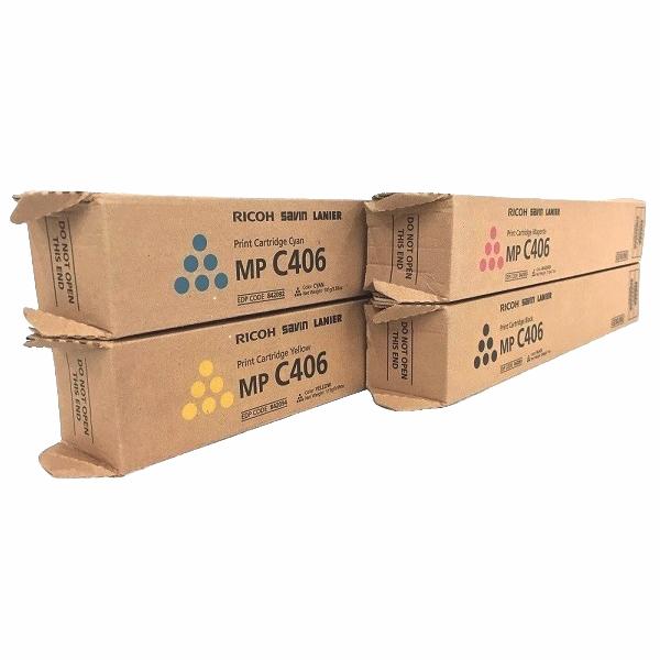 Ricoh MP-C406 Set   842091 842092 842093 842094   Original Ricoh Laser Toner Cartridges – Black, Cyan, Magenta, Yellow