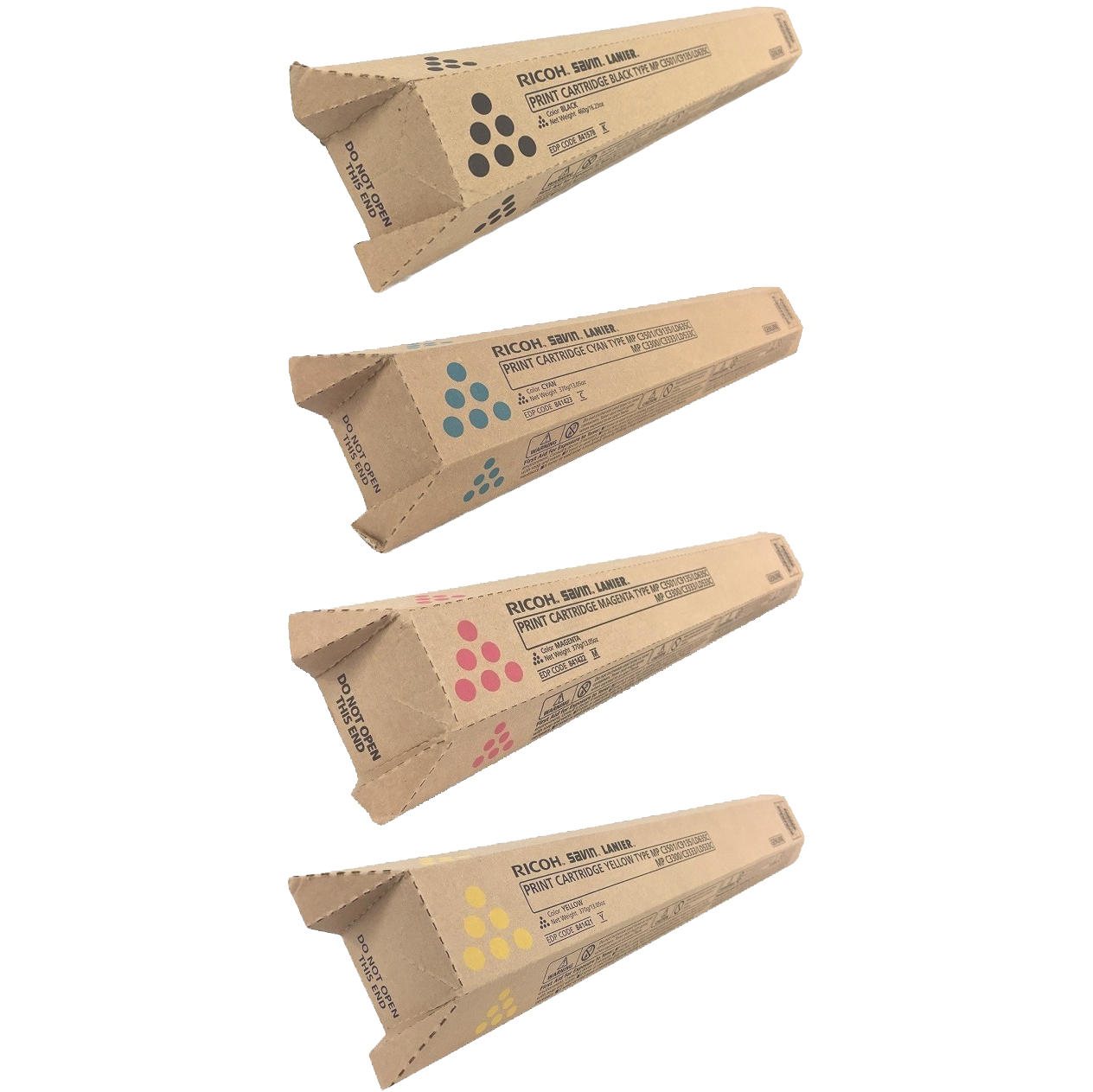 Ricoh MP-C3501 Set | 841578 841421 841422 841423 | Original Ricoh Laser Toner Cartridges – Black, Cyan, Magenta, Yellow