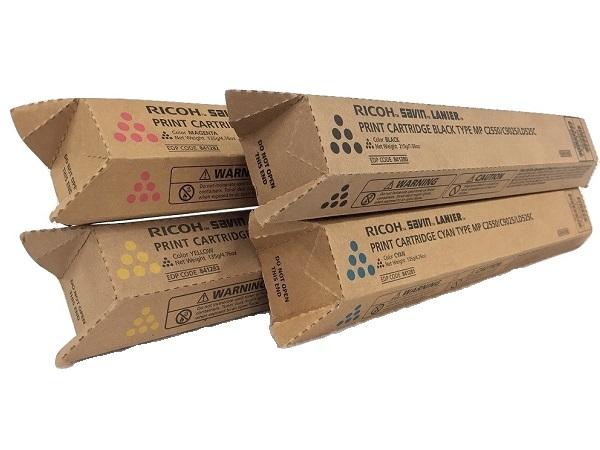 Ricoh MP-C2550 Set | 841280 841281 841282 841283 | Original Ricoh Laser Toner Cartridges – Black, Cyan, Magenta, Yellow