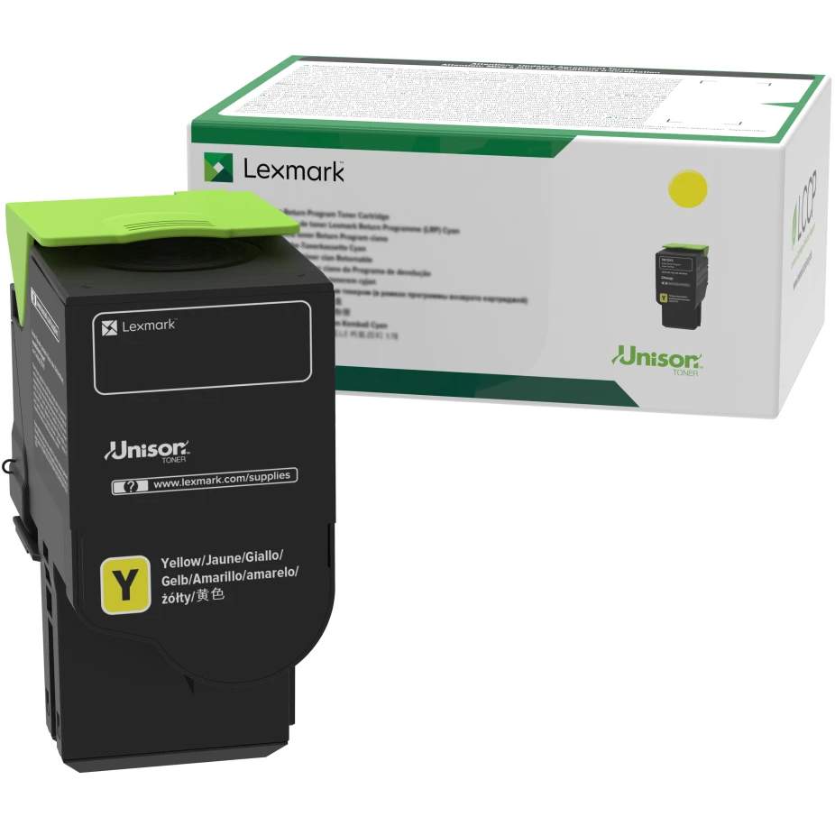 78C1XY0   Original Lexmark Extra High-Yield Toner Cartridge – Yellow