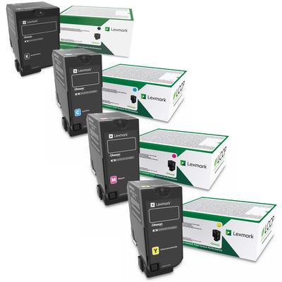 Lexmark 74C10 Set   74C10C0 74C10K0 74C10M0 74C10Y0   Original Lexmark Toner Cartridges – Black, Cyan, Magenta, Yellow