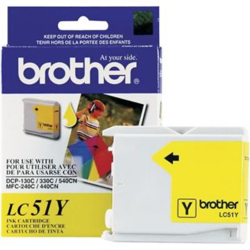 Original Brother LC-51Y Yellow Ink Cartridge