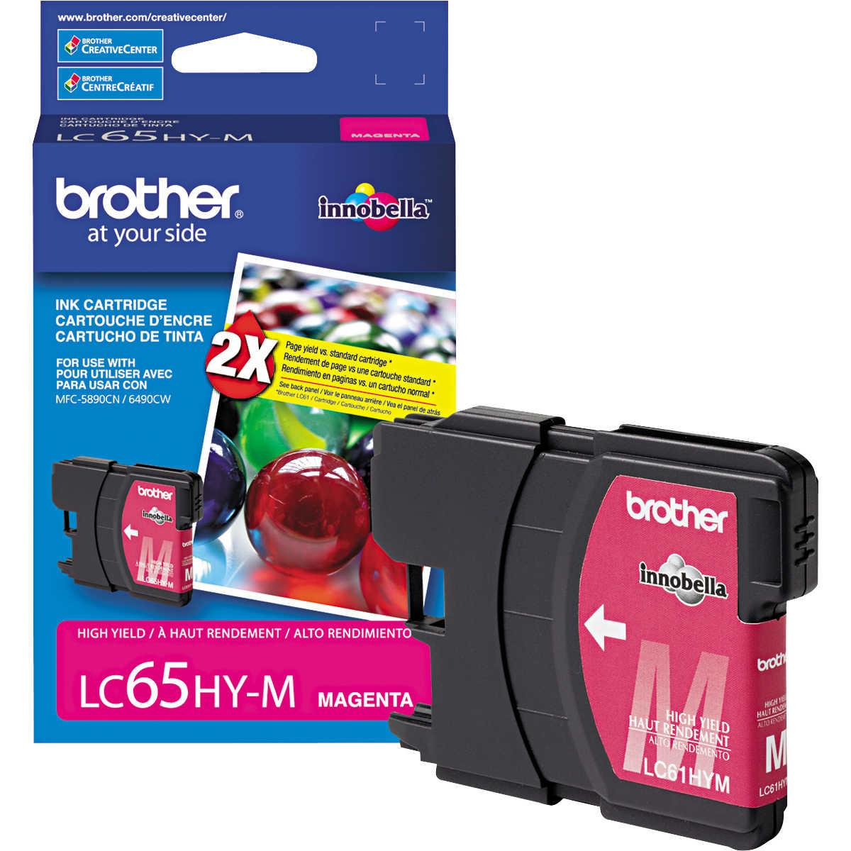 Original Brother LC-65HYM High Yield Magenta Ink Cartridge