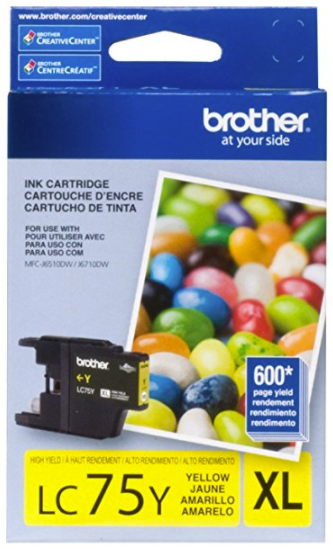 Original Brother LC-75Y Yellow High Yield Ink Cartridge
