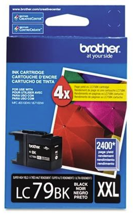 Original Brother LC-79 Black Super High-Yield Ink Cartridge