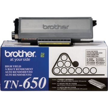 Original Brother TN-650 Black High-Yield Laser Toner Cartridge