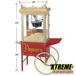 12oz popcorn machine on old tyme cart