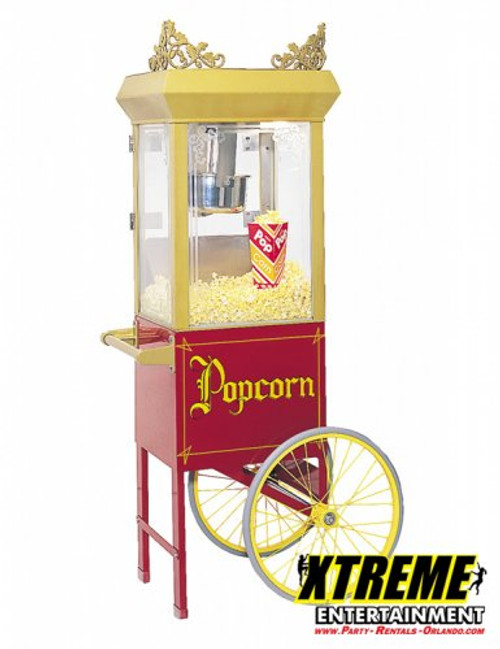 12oz popcorn machine on old tyme cart