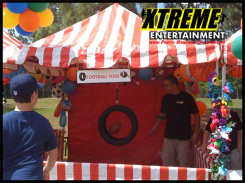Tire Football Toss Carnival Game