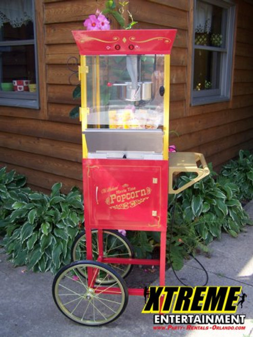 4oz Popcorn Machine on Old Tyme Cart
