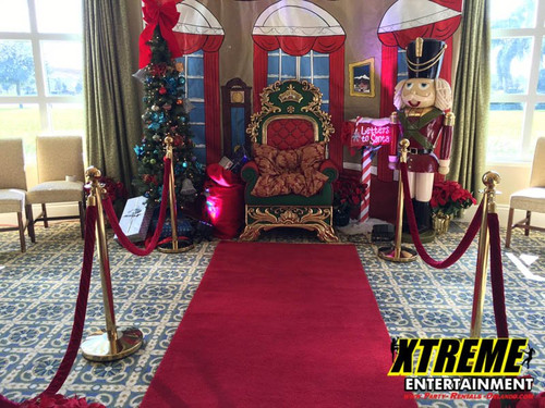 Stanchions with Red Velvet Rope