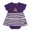 Infant Purple and White Dress with Stripe Bottom