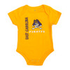 Infant Onesie Gold with Purple Vertical East Carolina