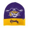 Knit Purple Vault Beanie Gold Band Pirates Script
