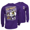 Swing Away Purple Pirates Baseball Tee