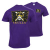 Purple Skully Flag Design Tee