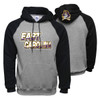Oxford & Black Hoodie with Diagonal East Carolina Design