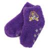 Fuzzy Purple Kids Jolly Roger House Socks