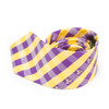 Purple & Gold Checkered Necktie with Jolly Rogers