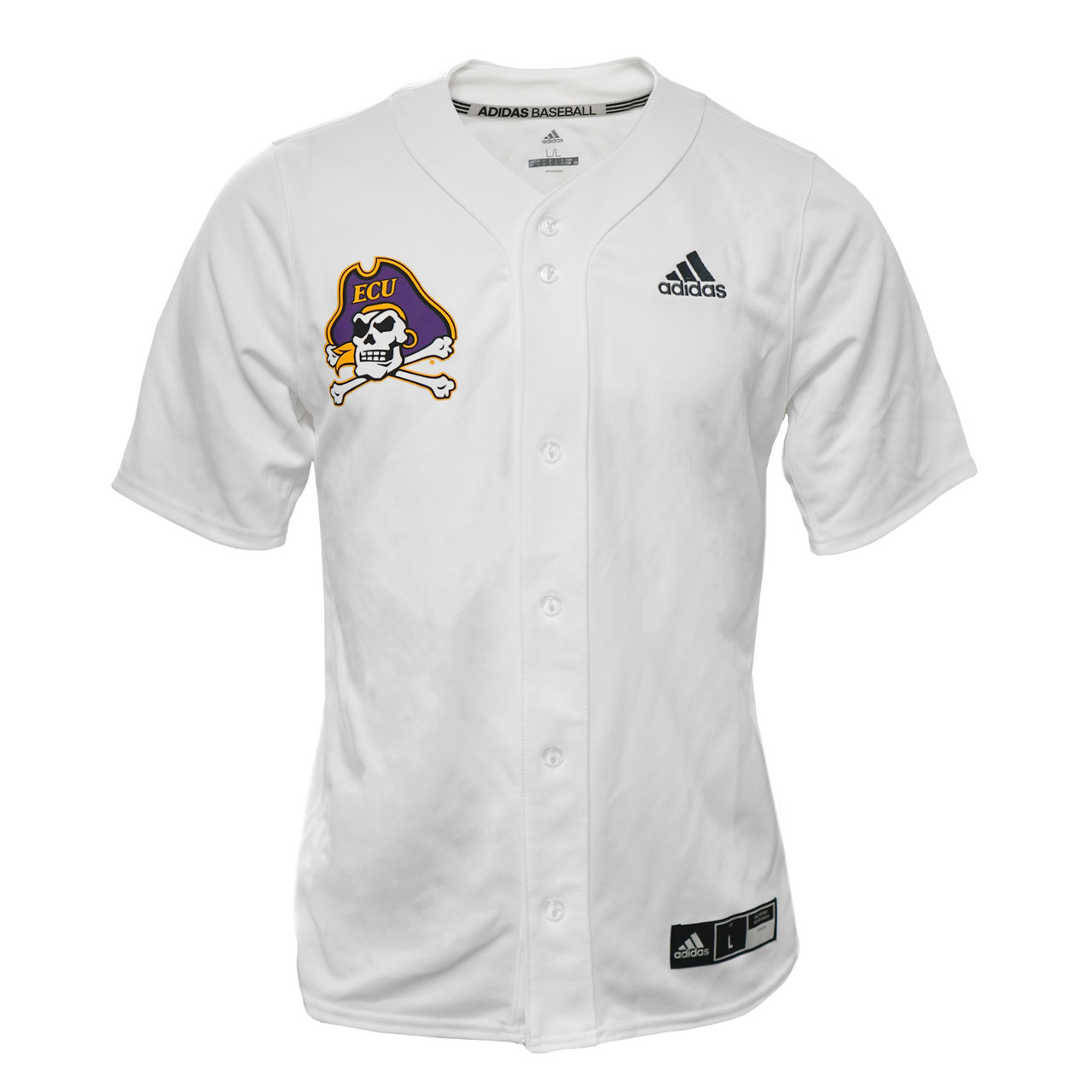low priced 24c34 cbc00 White ECU #19 Button Down Baseball Jersey