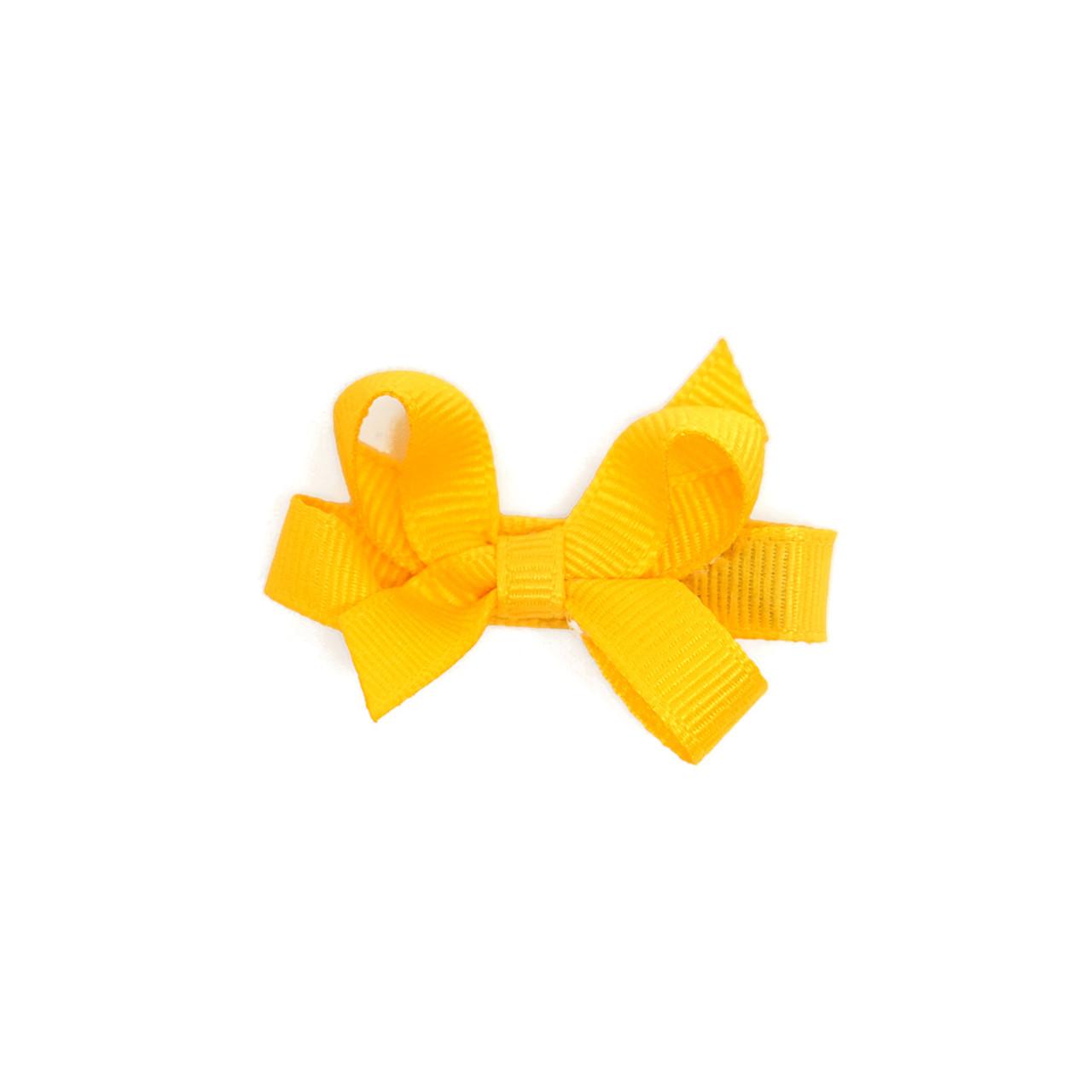 Yellow Bow Cinch Clip