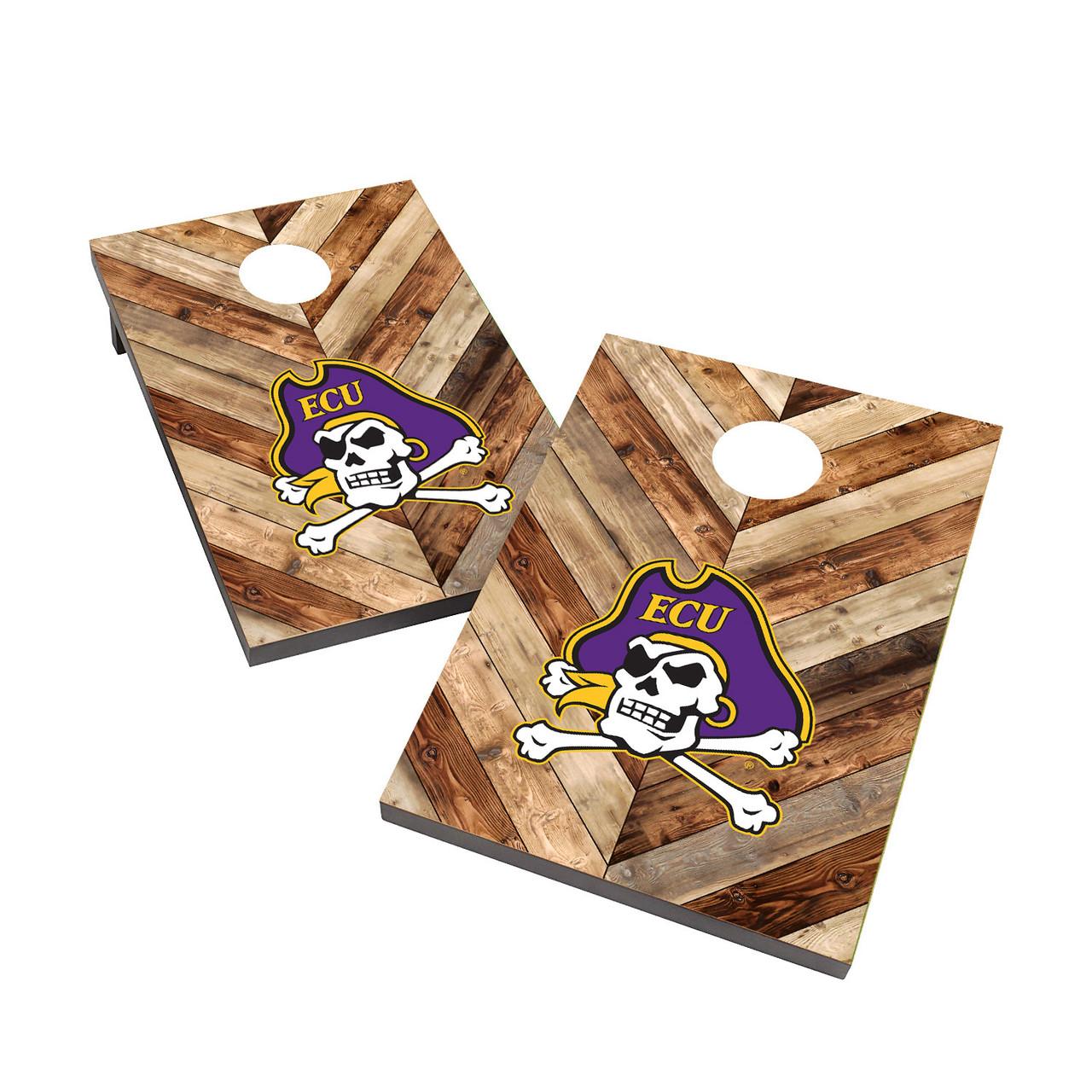 East Carolina Pirates Wood Cornhole Set with Bags