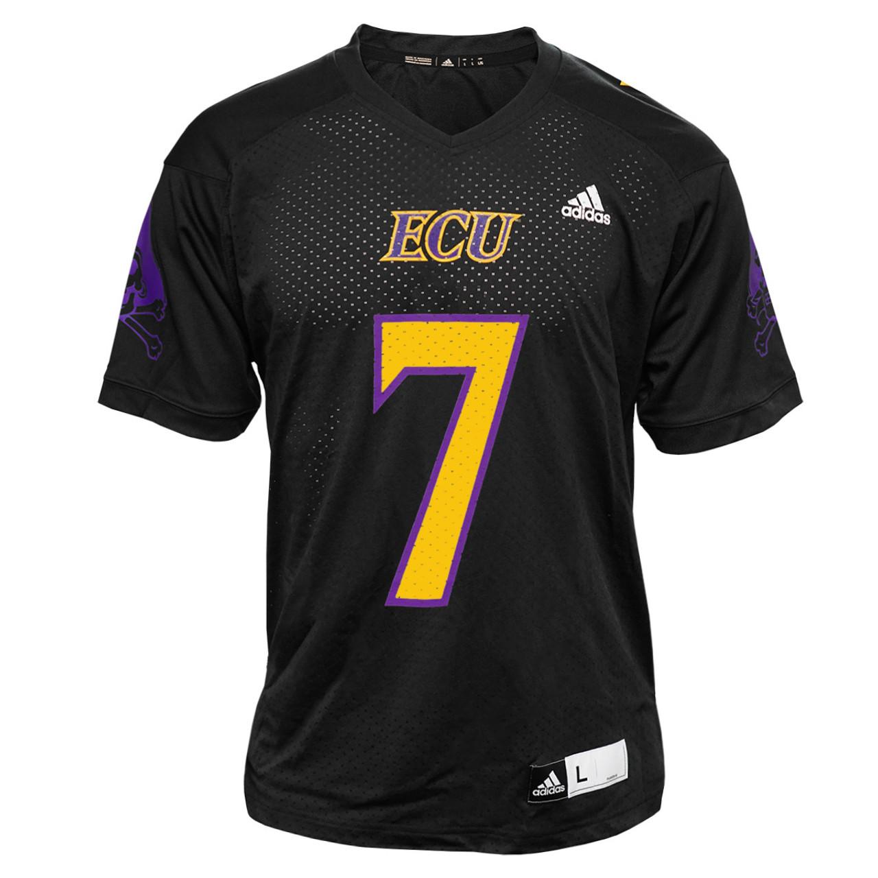 Replica No. 7 Black ECU Football Jersey