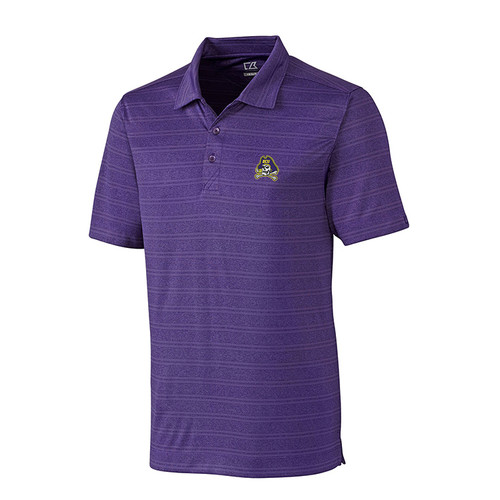 Purple Textured Stripe Jolly Roger Polo