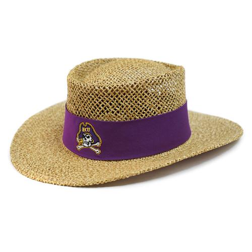 Tan Straw Jolly Roger Tournament Hat