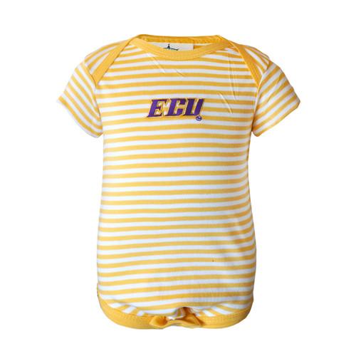 Gold & White ECU Infant Onesie