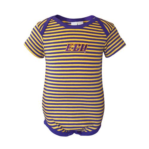 Purple & Gold ECU Infant Onesie
