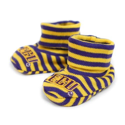ECU Purple & Gold Baby Booties