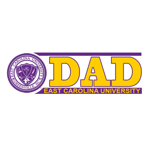 ECU Dad Bar Decal with Seal