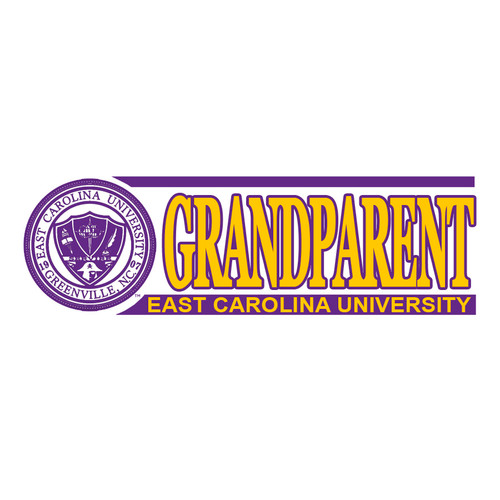 ECU Grandparent Bar Decal with Seal