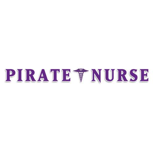 Purple & White Pirate Nurse Strip Decal