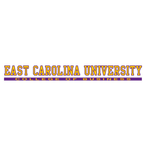 East Carolina College of Business Strip Decal