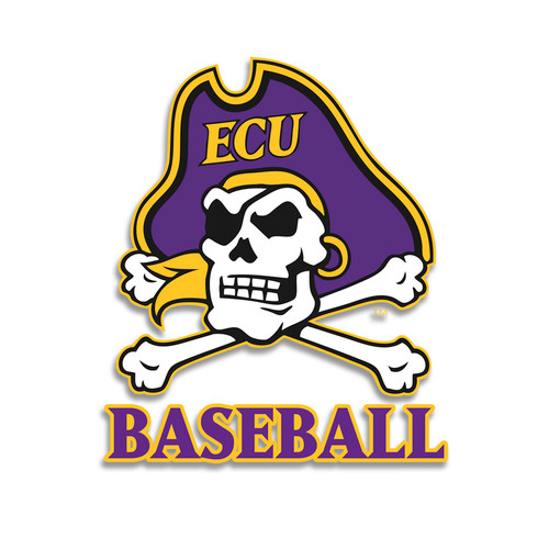 Full Color ECU Jolly Roger Baseball Decal
