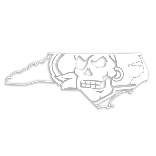 All White Pirate Nation Decal