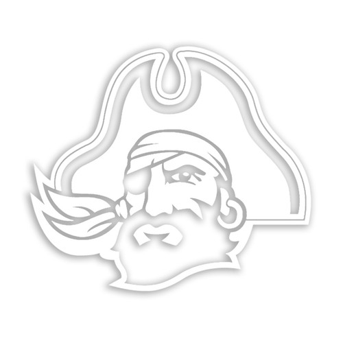 All White Pirate Head Decal