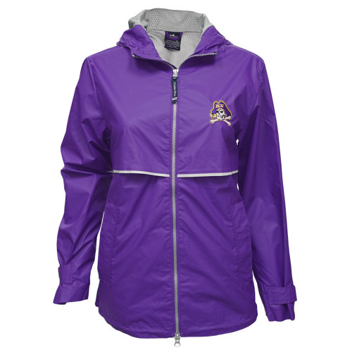 Ladies Purple Jolly Roger Raincoat