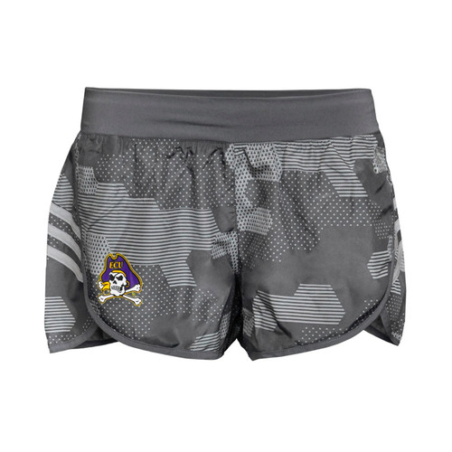 Charcoal Ladies Digital Sunshine Jolly Roger Athletic Shorts