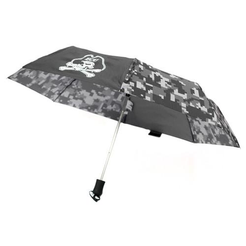 Black & Grey Digital Camo Jolly Roger Umbrella