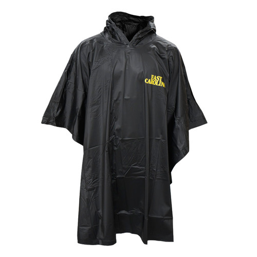 Black Heavy Duty East Carolina Rain Poncho