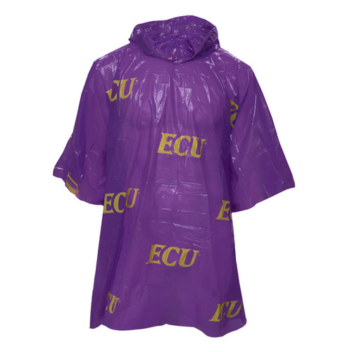 Purple Lightweight ECU Rain Poncho
