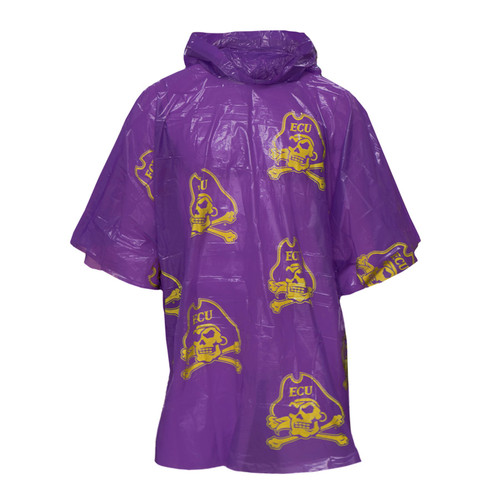 Purple Lightweight Jolly Roger Rain Poncho