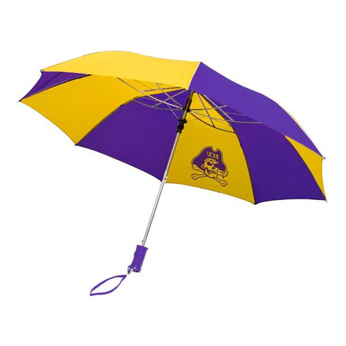 Purple & Gold Pinwheel Jolly Roger Umbrella