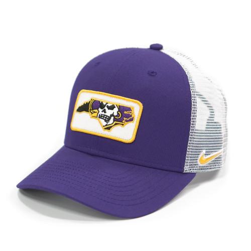 Purple Stitched Pirate Nation Patch Trucker Cap