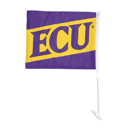Purple & Gold Diagonal ECU Car Flag