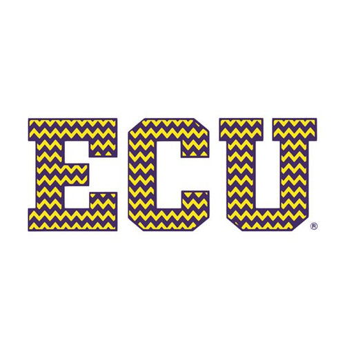 Purple & Gold ECU Chevron Decal