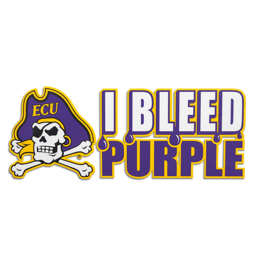 I Bleed Purple ECU Decal